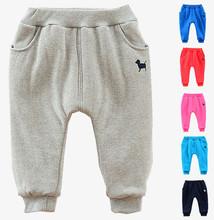 Retail New Winter Childrens Harem Pants Boys Casual Cartoon Warmer Pants For 2-7Yrs Kids Thicker Pants Babi Trouser Clothing(China (Mainland))