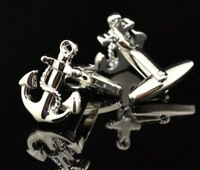 High quality Anchor shape cufflinks men's French coin Low Price Free shipping wholesale