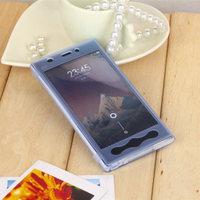 xiaomi mi3 case tpu soft  flip case for xiaomi mi3 cover transparent silicon shell can touch xiaomi m3 case shockproof+free film