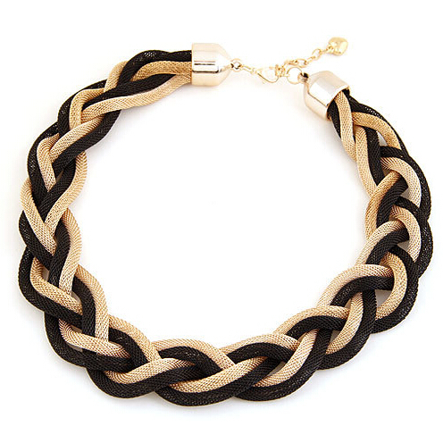 Exaggerated fashion metal preparation of multi-layer winding short twist necklace(China (Mainland))
