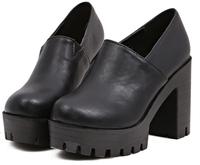 New 2014 fashion high thick heel women's shoes genuine leather platform shoes platform gladiator shoes platform ankle boots