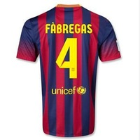 3A +++ futball Jersey 13/14 PIQUE I.RAKITIC PUYOL XAVI football jersey MESSI Camiseta INIESTA SUAREZ Shirts BEKO Player Version