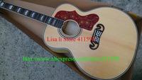 New SJ200 Peter Townshend Signature Maple Acoustic Guitar Back / Side / neck Tiger stripes