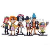 ONE piece Play Set  6pcs/lot PVC 6-10cm High Action Figures Classic Toys