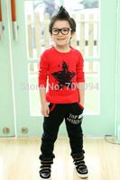 Good Quality Retail 2014 Autumn Long Sleeve Boy's Fashion Star T shirt Children Unisex Tshirts boys clothes