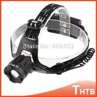 2000 Lumens Head Lamp CREE XM-L T6 LED Headlight Adjustable Focus Head light Flashlight Headlamp
