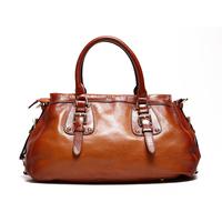 Brand 2014 New Hot Sale Women's Genuine Leather Brown Handbags Shoulder Bags Messenger  Bag Fashion Unique Vintage Design