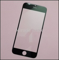 For iPhone 6  4.7 inch Front Glass Lens Outer LCD Lens Replacement Parts Cover Black White 10pcs by HK POST