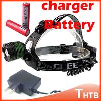 2014 hot 2000 Lumens CREE XML T6 LED Headlamp Headlight Flashlight Head torch Lamp Light 18650 + ac Charger Portable Torch