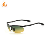 High Grade Professional Aviation Alloy Polarized All-weather Vision Glasses,Ultra Light Resin Lenses Night Driving Shades. G353