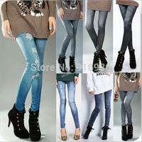 New women thin Ladies wild snow Denim jeans Leggings pencil pants Leggings autumn winter warm free shipping DDK013