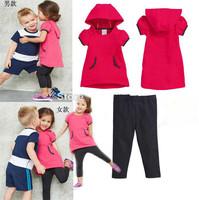 Brand A/D children boys and girls fashion sport suit cloth set children cloth set kids summer children clothing set 5sets/lot