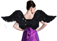 200x65CM Halloween Masquerade Feather Angel Wings Costume Party Color Demon Wings Stage Fashion Show Props Wings Free Shipping