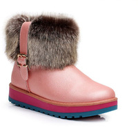 NEW 2014 Women winter snow boots, warm flat heel solid bowknot snow boots, Ankle Platform Mid-calf shoes size 36-40, hot boots,