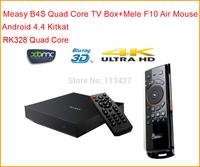 Measy B4S RK3288 Quad Core Cortex A17 H.265 Smart TV Box  Mali-T764 GPU 2G RAM 4K HDMI XBMC 3D Blue-Ray Player  + Mele F10 Mouse