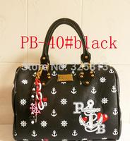 FREE SHIPPING new arrived PB Fashion women's  Handbags Skull Heads SIGNATURE Twister Bags I LOVE PB BNWT UK Shoulder bag PB-40#