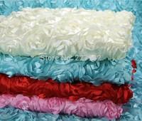 Hot sale carpet rose wedding props wedding decorations check-in desk T background yarn flower cloth