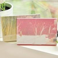 Free shipping vintage small fresh minimalist aesthetic fairy tale illustration postcard Christmas card suit