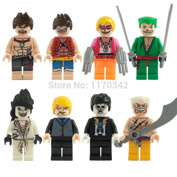 One Piece Figures Toys 8pcs/lot JLB 3D8905 Minifigures Building Blocks Sets Model Toys For Children Bricks(China (Mainland))