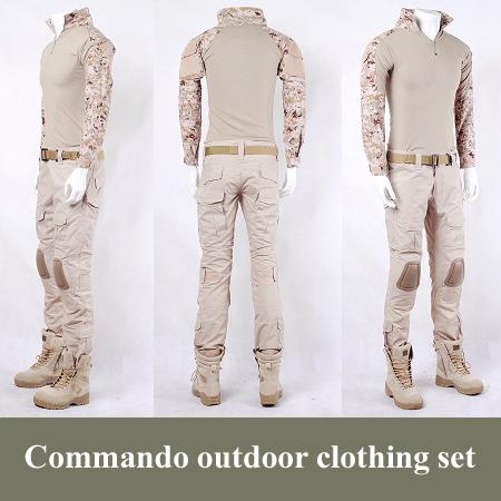 [해외]전투 훈련 CS 육군 위장 야외 의류 세트 밀리터리 야외 전쟁..