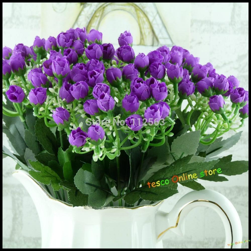 Cheap And Wholesale Artificial Plastic Silk Flower Milan Bract Bouquet