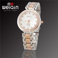 WEIQIN Brand New Fashion Women Dress Rhinestone Decoration Bracelet Watch, Quality Assurance, Waterproof Stainless Quartz Watch