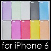 300x DHL Free.New arrival! 10pcs 0.3mm ultrathin soft case for iphone 6 back cover matte case high quality 10 colors