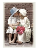 Free shipping Hand-painted oil painting by numbers DIY Paint Acrylic Drawing With Brush Paints Home Decorating First kiss
