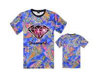 Hot Sale Fashion Men's New 2014 mens hip hop Diamond t shirt diamond supply co Korean style free shipping