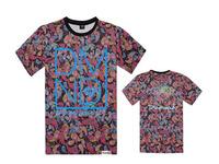 men T shirt summer diamond street hiphop dancer poppin hiphop skateboard trend hip-hop short sleeve cotton free shipping