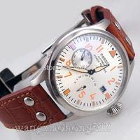 Details about 47mm parnis Big Pilot Power Reserve Chronometer mens watch seagull 2530 P011H