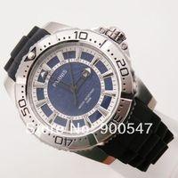 Details about Parnis relief dial 10ATM date unidirection bezel tender rubber men's Watch P543