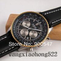 Details about Parnis 24 hour luminous black dial Chronograph date men's quartz wristwatch P536