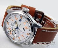 Details about 47mm parnis white dial Big Pilot Power Reserve Chronometer mens watch P011 PRE-2