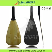 3-Piece Adjustable Bamboo Veneer Carbon Fiber Stand Up Board Paddle/ SUP paddle