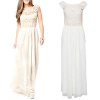2014 Sexy Women's Boho Evening Party Maxi Long Sleeveless Dress Summer Beach Chiffon Dress S5M