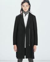 2014 Luxury British Style Women Winter Long Thick Warm Wool Outerwear Coat Slim Ladies Fashion Trench Coats Woollen Overcoat