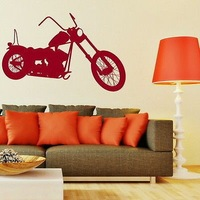 Motorbike Adhesive Vinly Wall Stickers Wall Decal Wall Art Home Decor