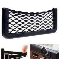 Fashion Big car storage Automotive Bag With Adhesive Visor Car Net Organizer Pockets Net Free Shipping