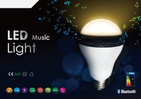 New fahion E27 5W Mipow Playbulb Wireless Bluetooth Smart LED Light Bulb Music Speaker Lamp Audio Speaker for iPhone / iPad air