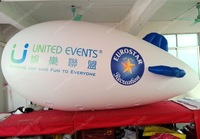 Fat body PVC inflatable advertising blimp with 2 sided high quality digital ptinted logo printing with free shipping