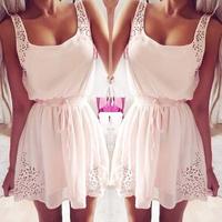 Summer 2014 Fashion women Casual Dress 2014 New Elegant Sleeveless Tunic Rhinestone mini Women party dresses