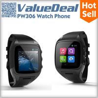 """Original PW306 MTK6572 Dual Core Watch Phone Android 4.2 4G ROM 1.54"""" Capacitive Touch Screen 5MP Camera 3G GPS WIFI Smartphone"""