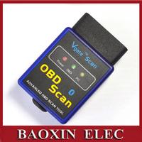 3pcs/lot Mini Vgate ELM327 V2.1 Bluetooth obd2 Car Auto Automotive Scan Tool on Android Torque Free shipping