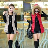 Winter Coat Women Girl Students 2014 Brand Vest Coat Casual Gift Parka Short New Down Jacket  Pure color XXXL YY0611