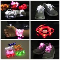 50Pairs/lot Generation 5 Nylon Glow Party Flashing Shoelaces Light Stripe Shoelaces Free shipping
