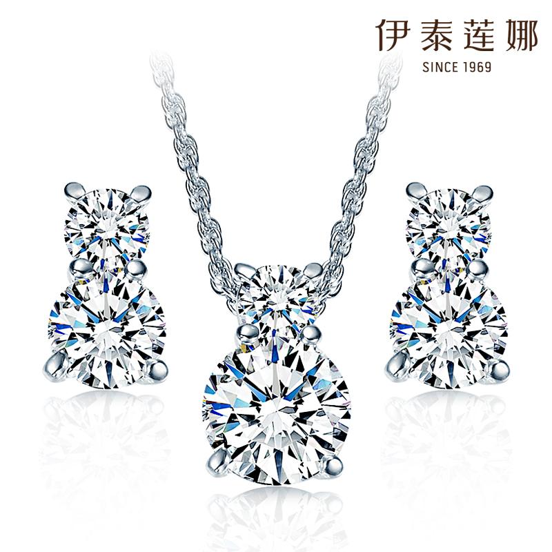 Jewelry Colares Femininos Unique Freeshipping Necklace Earrings Set Austria Jewelry Ultra Shiny New South Korea 2014(China (Mainland))