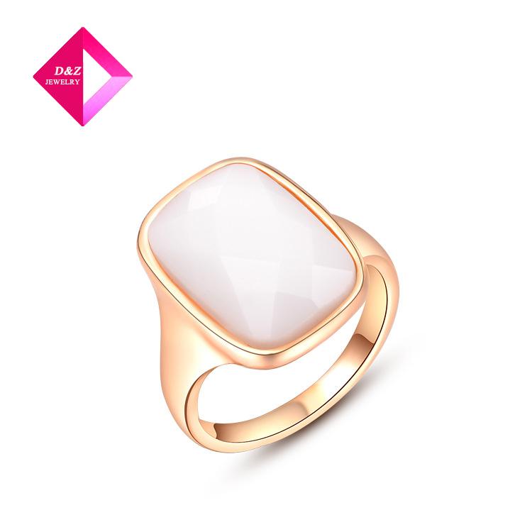 2014 Austrian White diamond ring rose gold ring fashion jewelrys factory price ring series