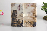 22 Styles Eiffel Tower UK US flag statue of Liberty Spongebob Leaning Tower of Pisa Leather Wallet Case For Sony Xperia Z2a