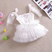 5pcs/lot New 2014 Children Clothing Girls Yarn Dress Flower Ball Gown Formal Party Wedding Dress Baby Girls Summer Dresses